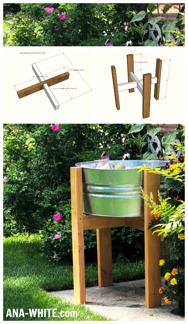 Wood Party Bucket Stand Ana White