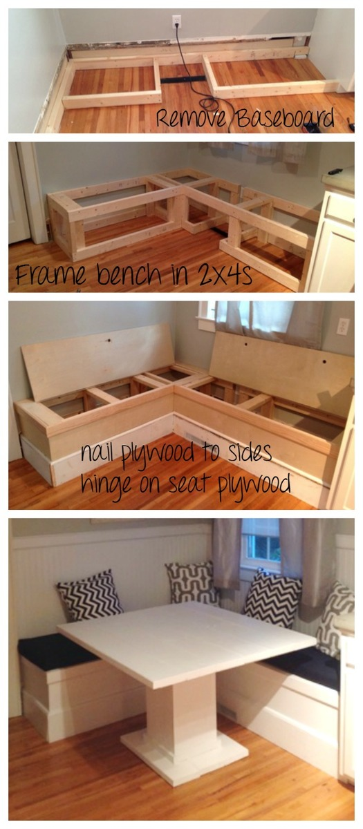 Diy Breakfast Nook With Storage Ana White