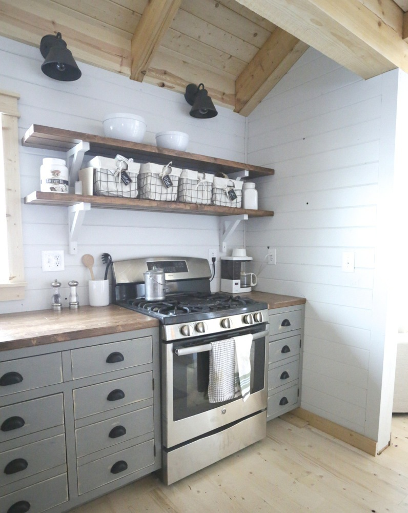 Kitchen Shelving Ana White Open Shelves For Our Cabin Kitchen Diy Projects