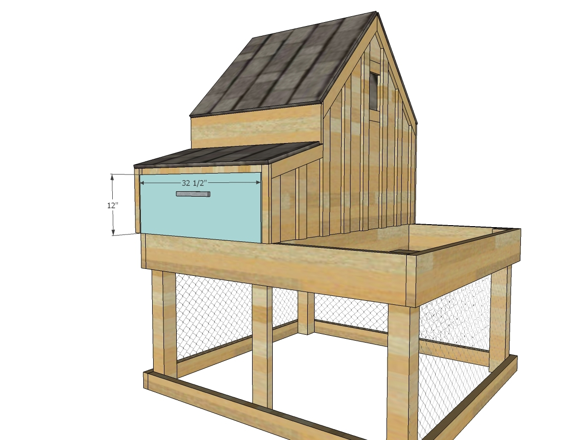 Ana white small chicken coop with planter clean out for Plans chicken coop