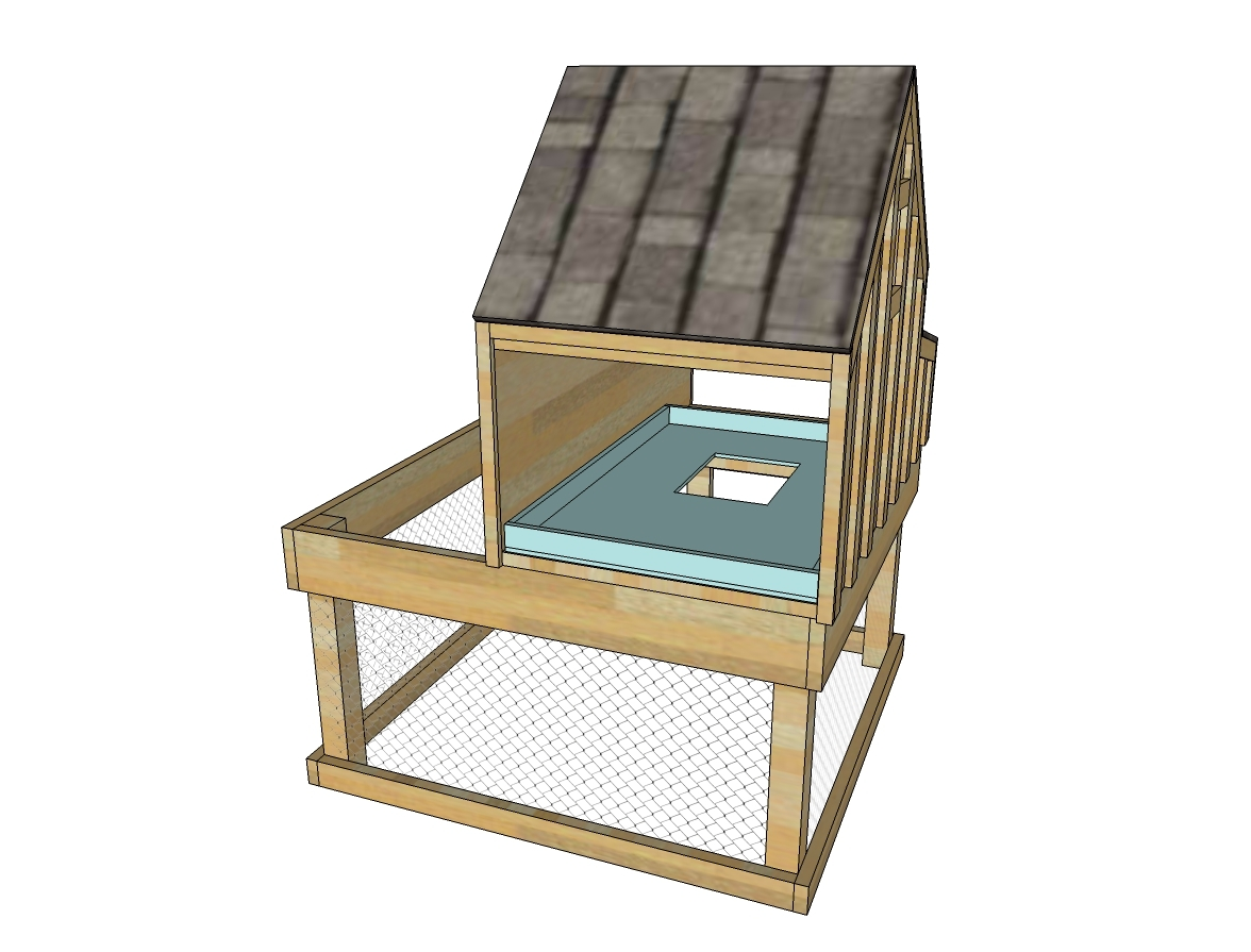 ana white small chicken coop with planter clean out tray and