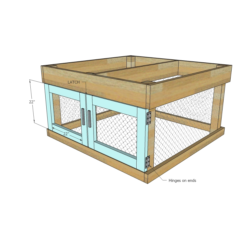 Ana White | Small Chicken Coop with Planter, Clean Out Tray and ...