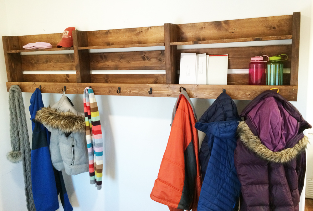 Ryobi Nation 8 Foot Long Pallet Inspired Coat Rack