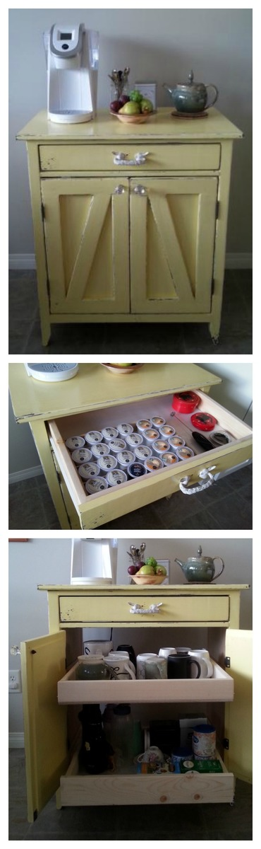 Ana white channing coffee bar diy projects for Kitchen coffee bar cabinets