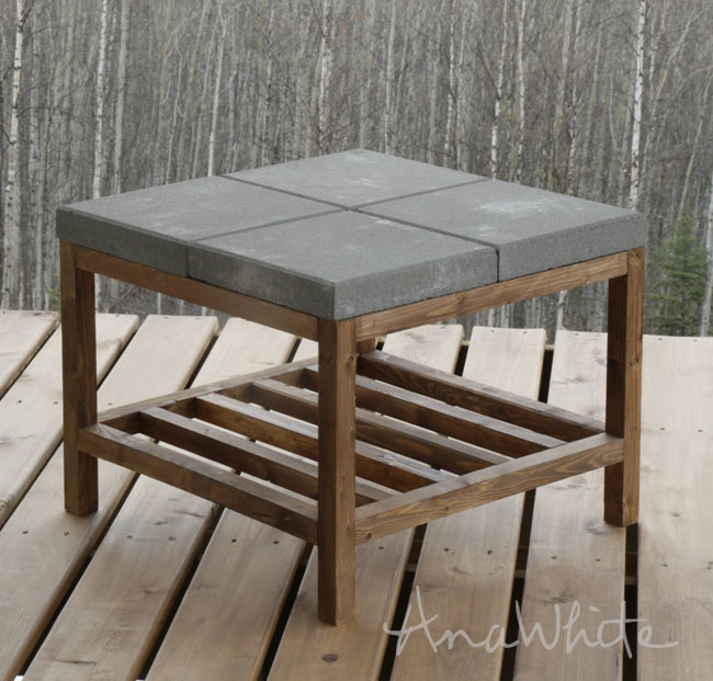 Concrete Paver Outdoor Coffee Table