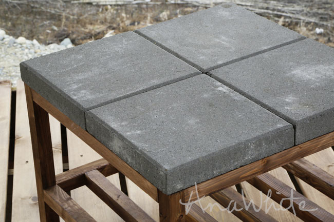 New Concrete paver topped coffee table plans by ana white