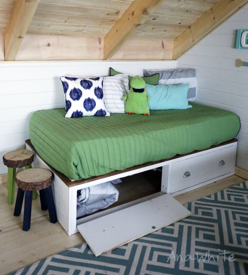 Ideal Alaska Cabin Daybeds or Captain Beds with Storage Drawer Areas