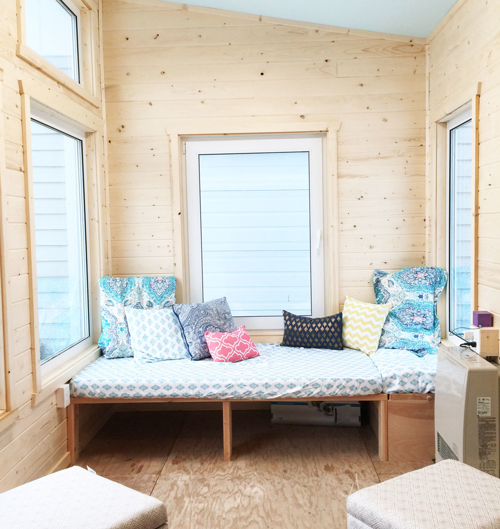 DIY Daybed for Tiny House Seating and Extra Sleeping