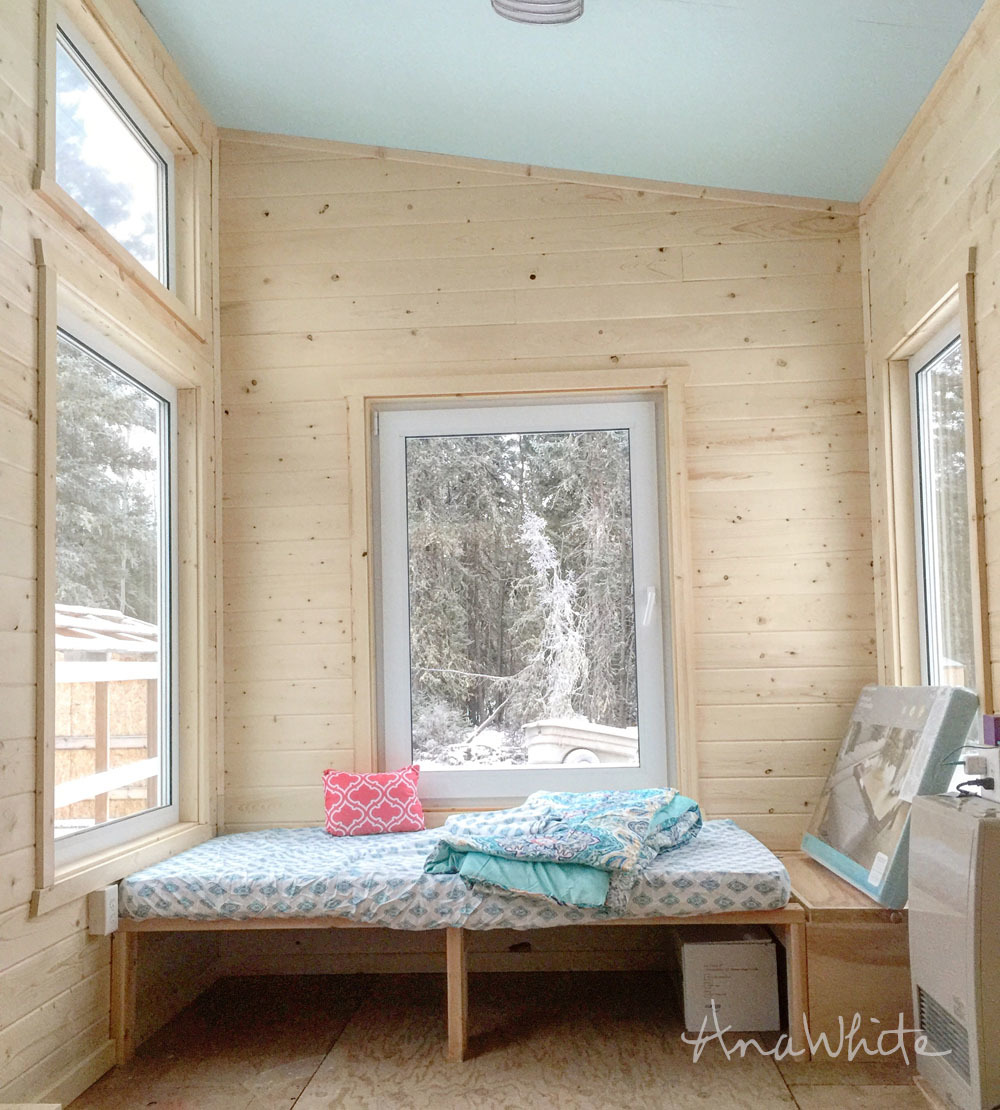 Ana White | DIY Daybed for Tiny House Seating and Extra Sleeping ...