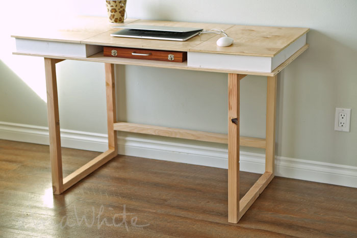 Modern 2x2 Desk Base for Build Your Own Study Desk Plans