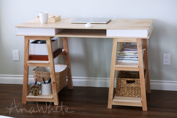 Ana white modern 2x2 desk base for build your own study for How to build a craft desk
