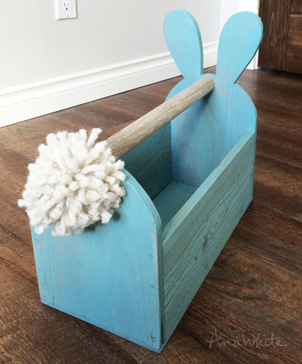 Make A Wood Easter Basket With Bunny Ears And Tail