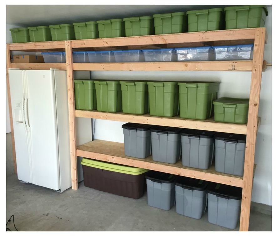 Easy Storage Idea: Easy DIY Garage Shelves - DIY Projects