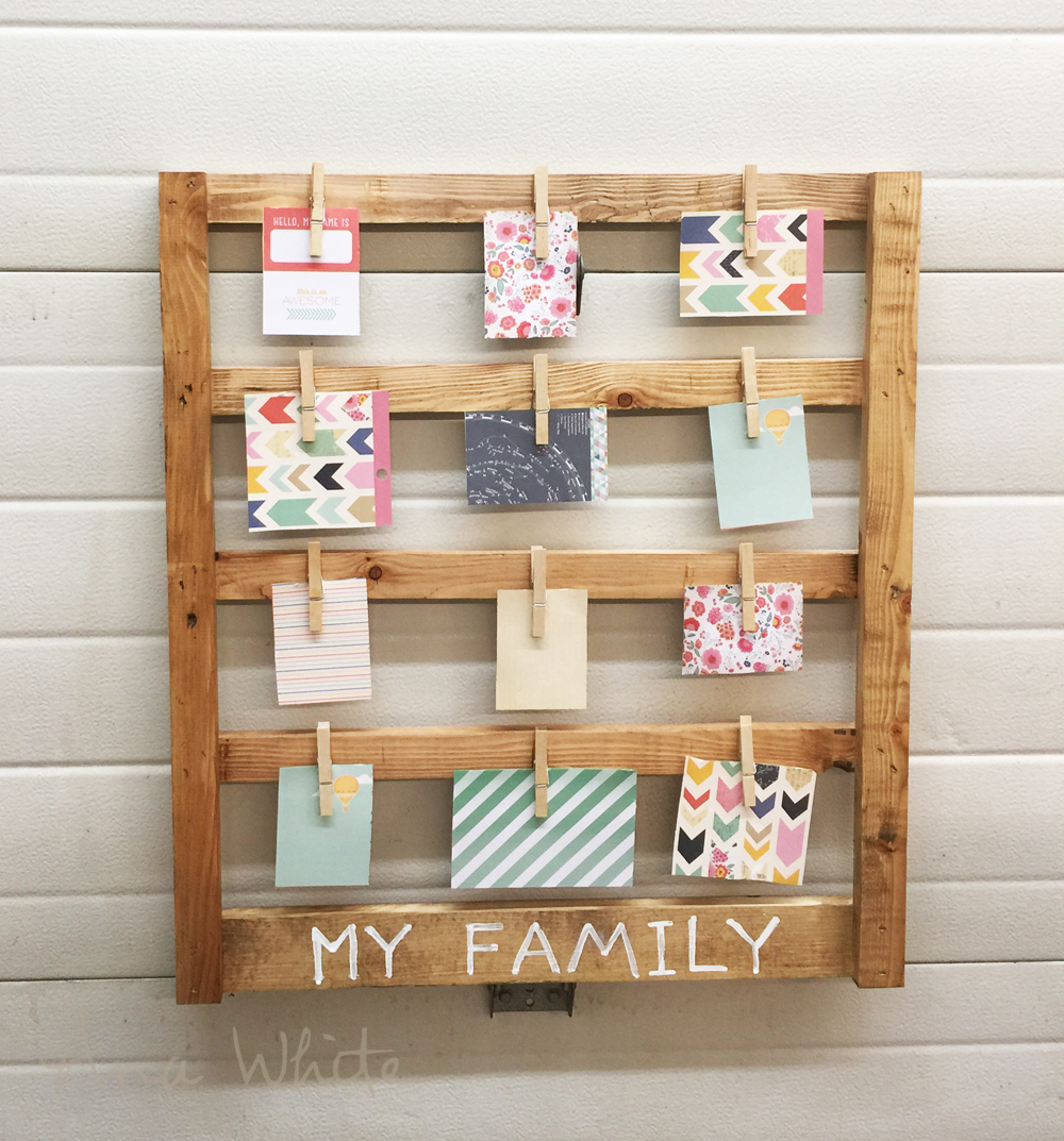 The Wall Mount Frame Holds 12 Photos And Desktop Photo Block Three Easy Tutorial By Ana White