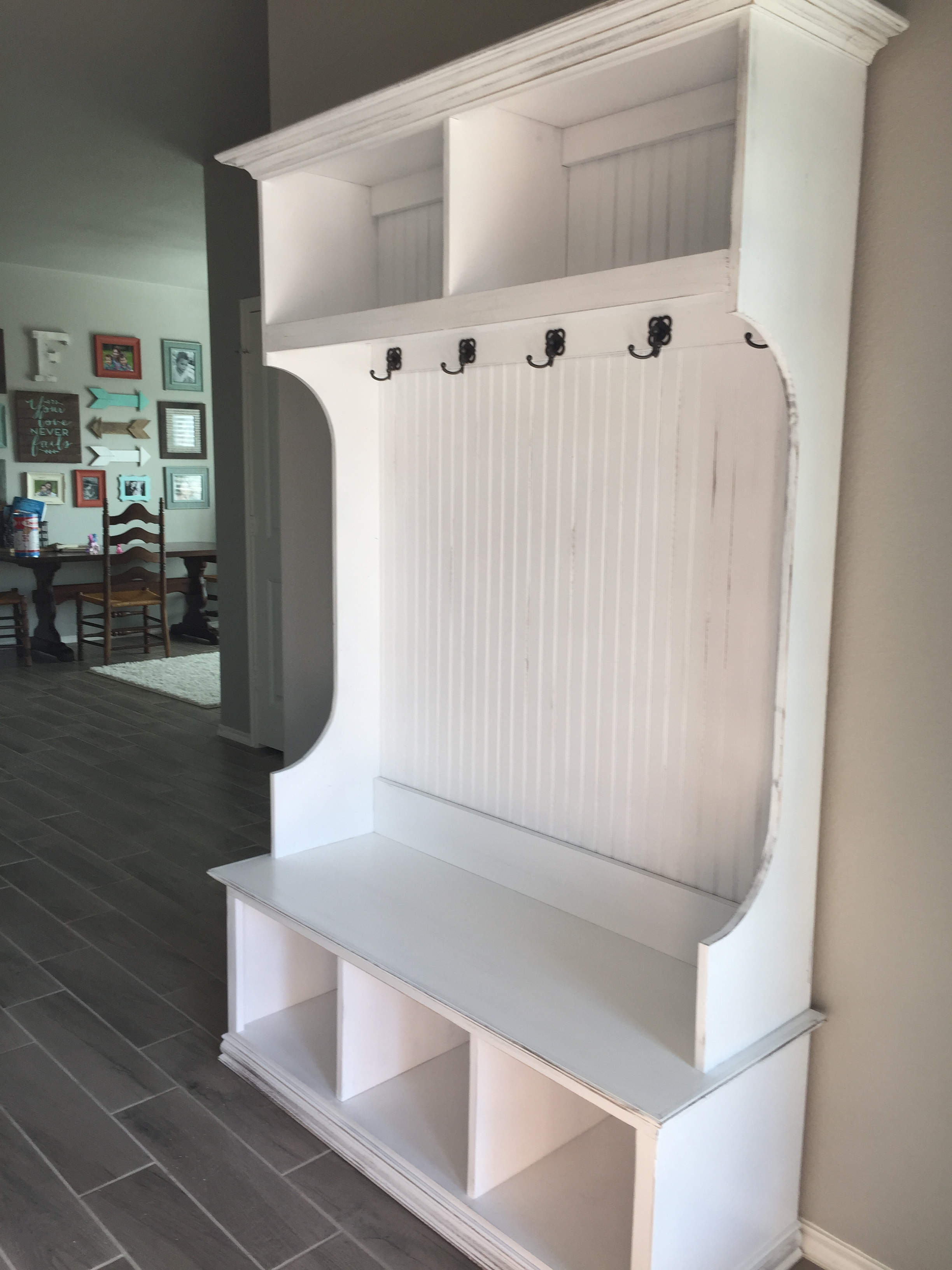 Hall Tree Bench White Marcuscable Com