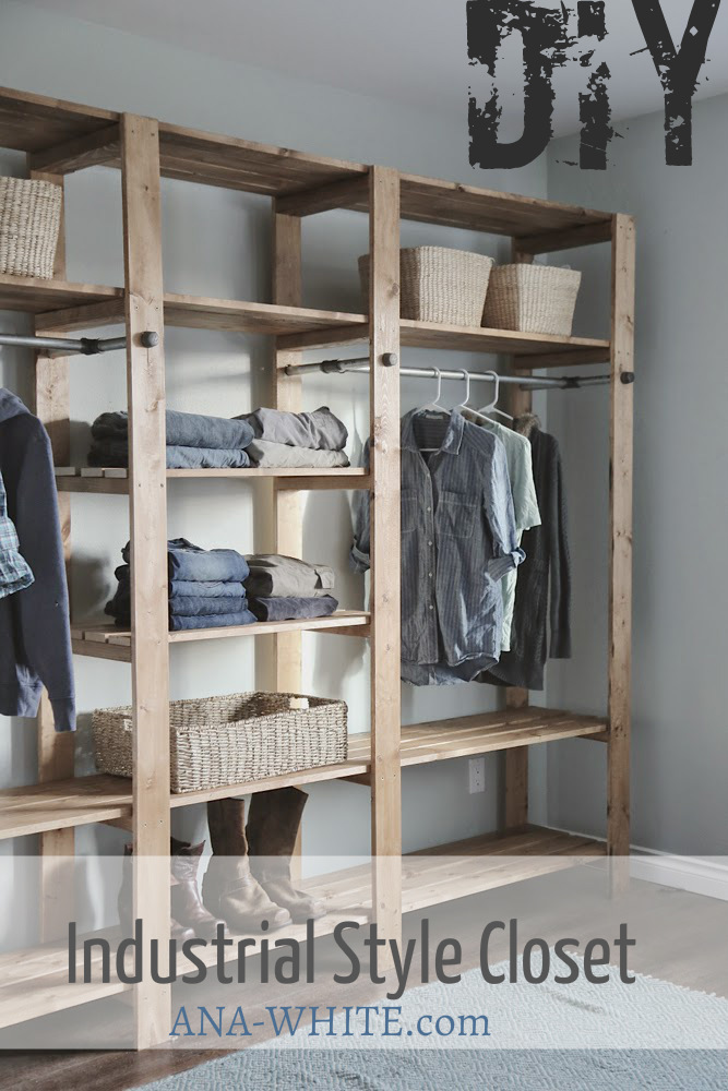 Diy Industrial Closet Plans