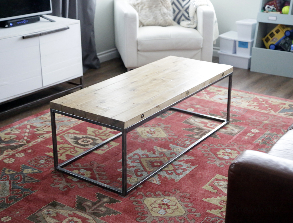 How To Build An Industrial Style Tabletop Where The Boards Are Bolted  Together The Long Way.