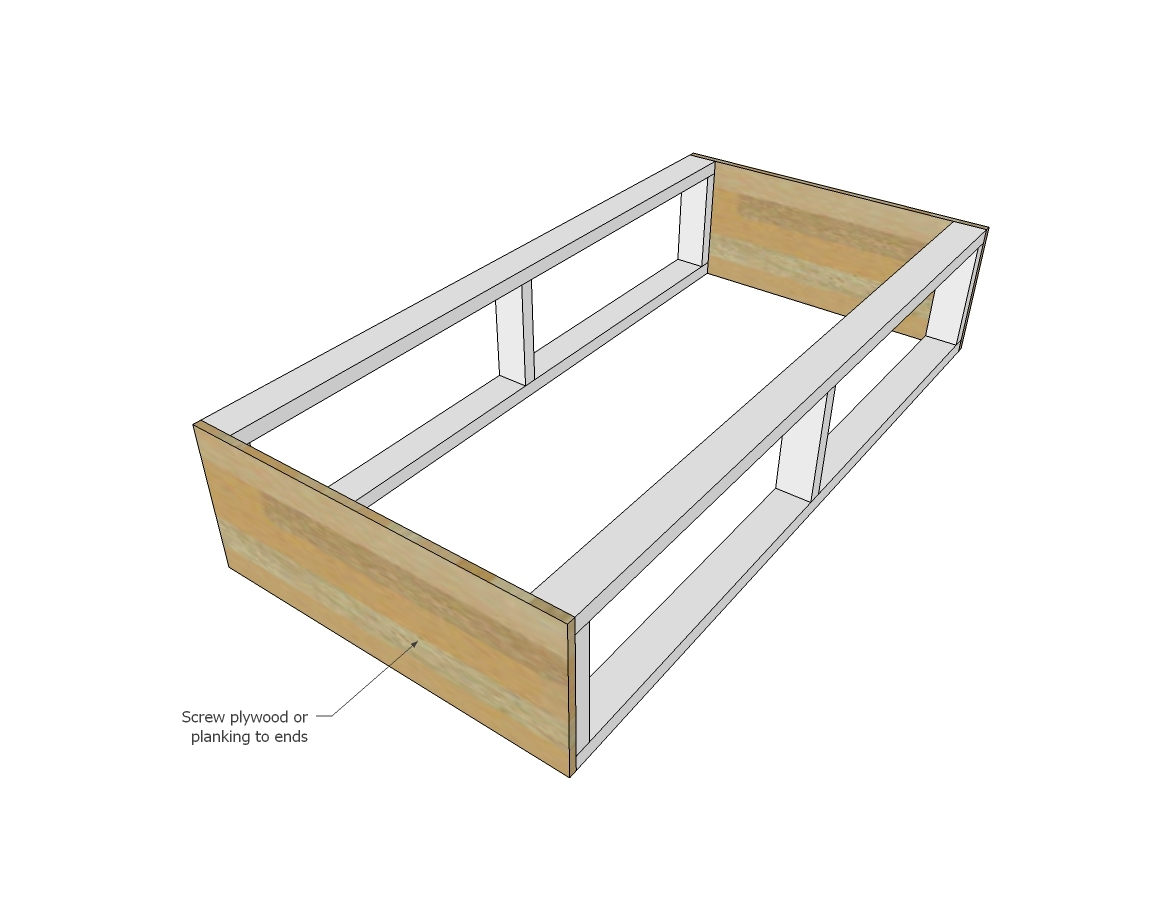Perfect Ana White Alaska Cabin Daybeds or Captain Beds with Storage Drawer Areas DIY Projects