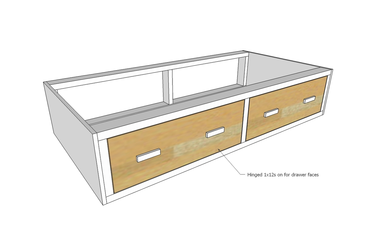 Unique Ana White Alaska Cabin Daybeds or Captain Beds with Storage Drawer Areas DIY Projects