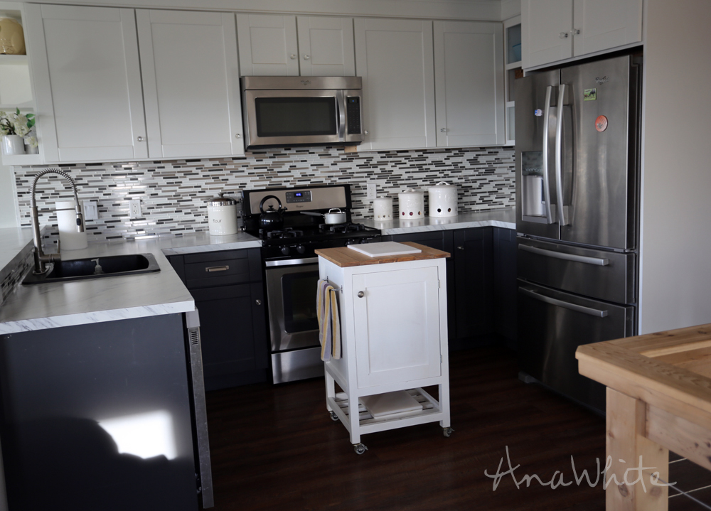Small Kitchen With Island ana white | how to: small kitchen island prep cart with compost