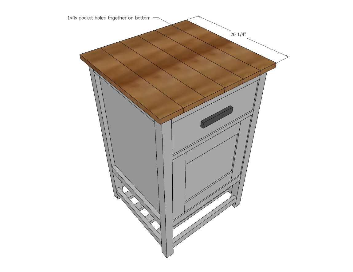 Kitchen Cart With Doors Ana White How To Small Kitchen Island Prep Cart With Compost