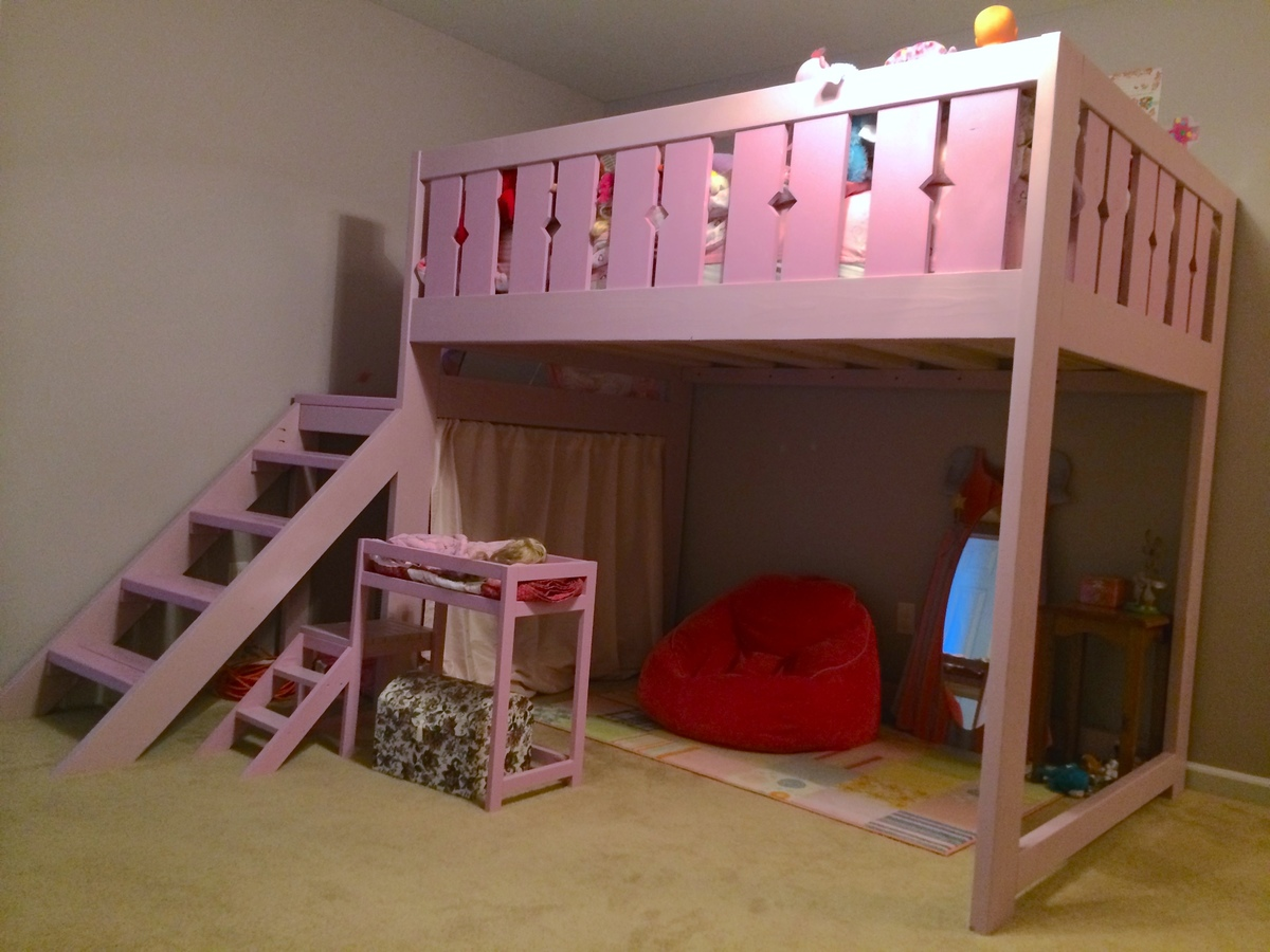 Ana White | Modified Camp Loft Bed - Full Size - DIY Projects