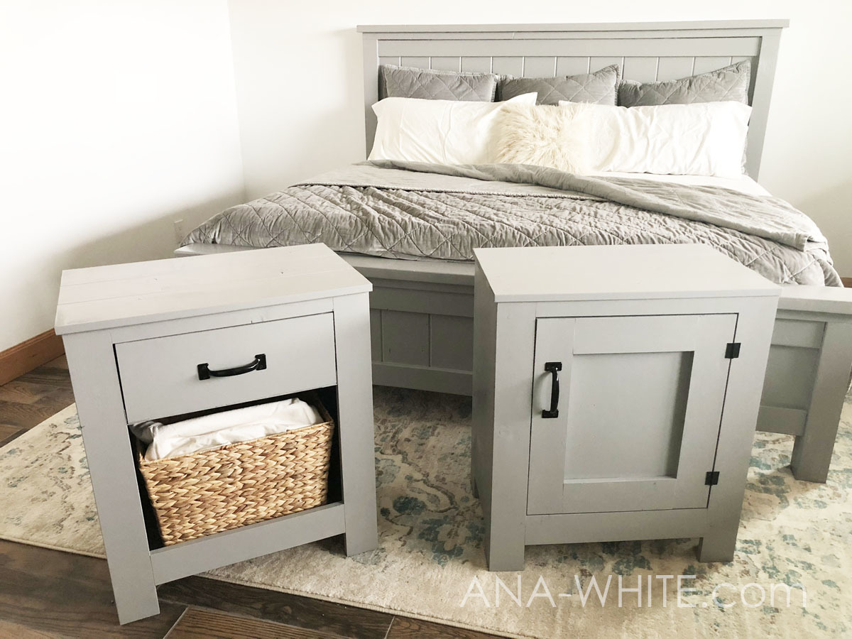 Cabinet Style Farmhouse Nightstand With Door Ana White