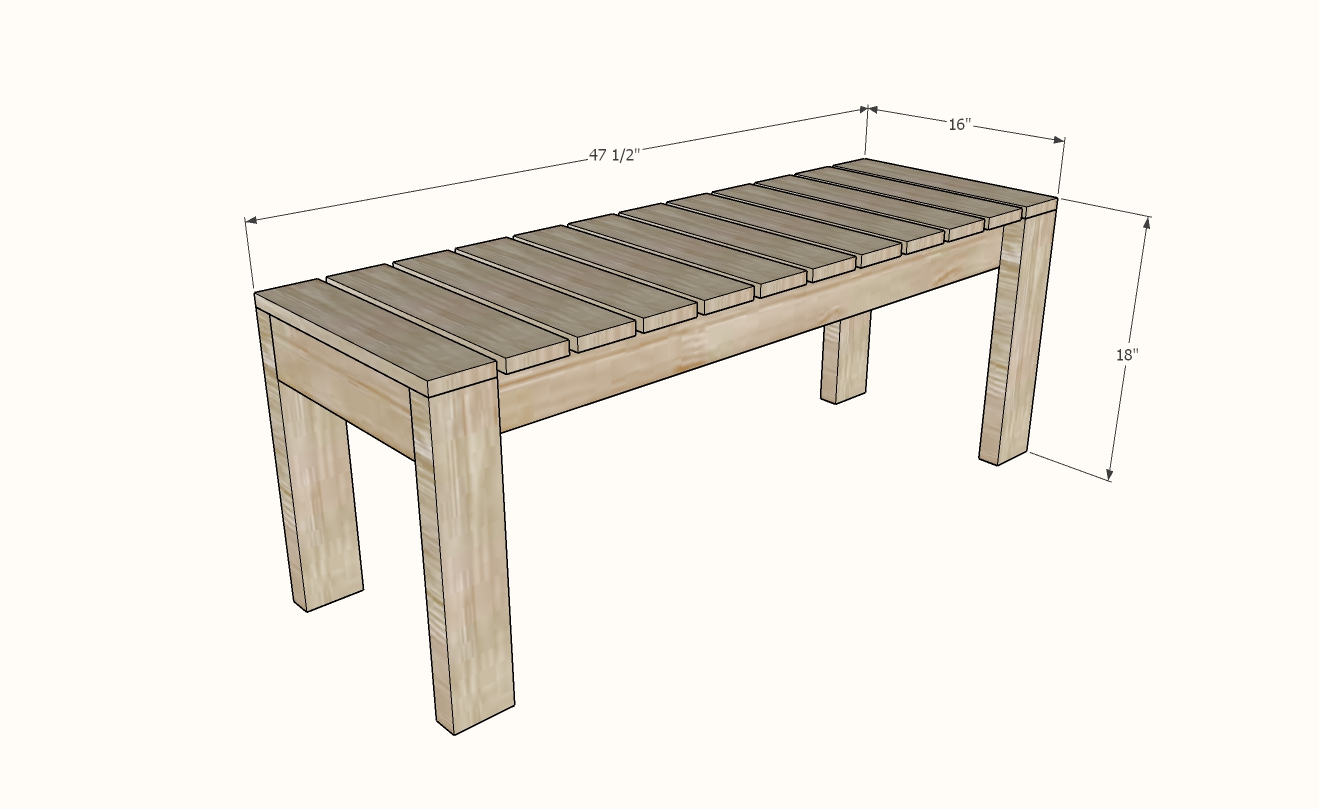 small outdoor bench