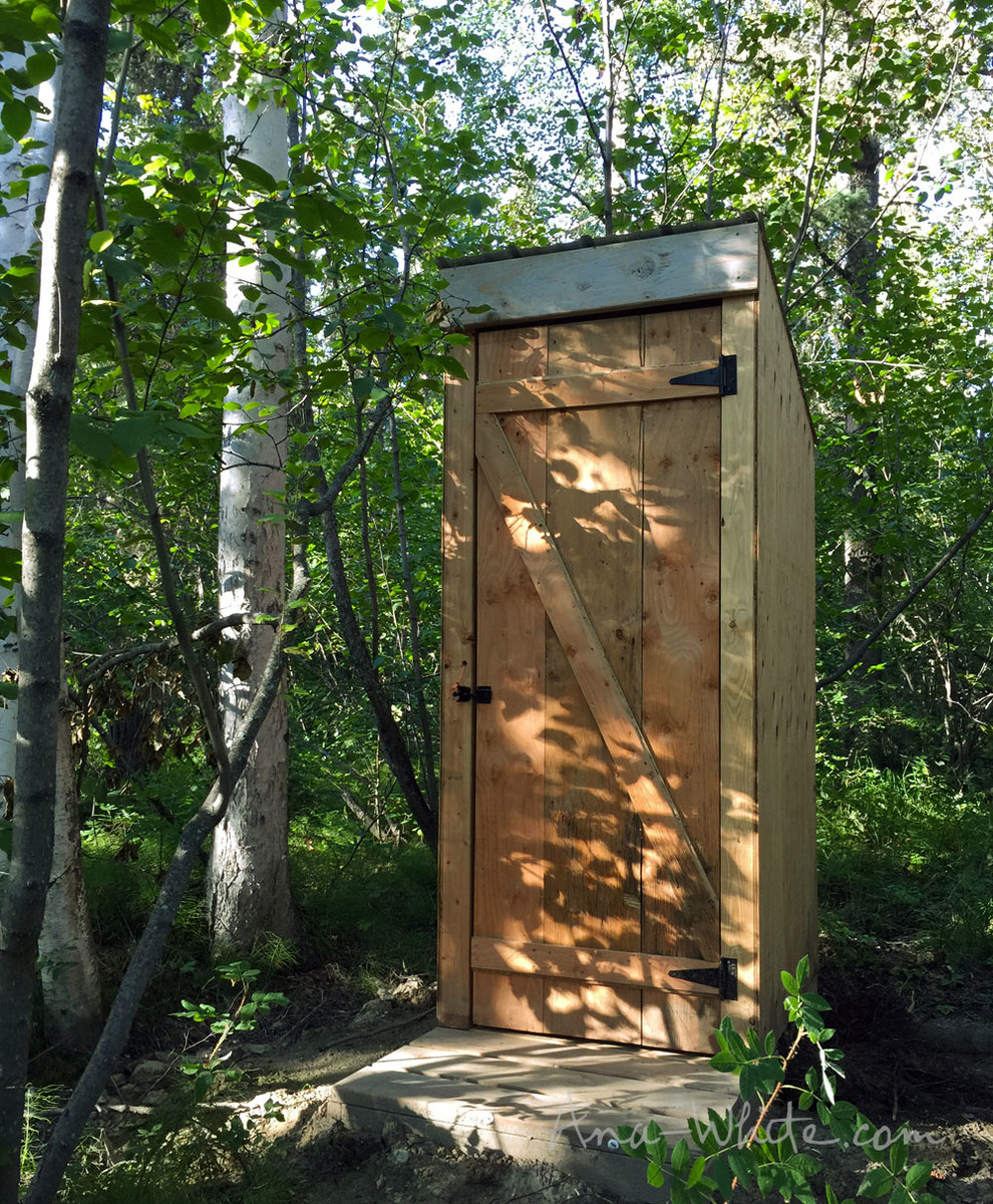 ana white simple outhouse diy projects handmade from this plan
