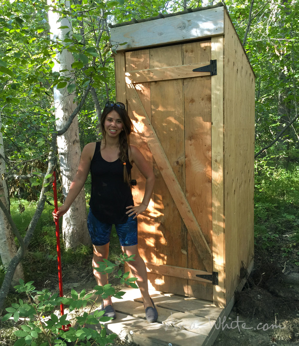 Ana white simple outhouse diy projects for Diy home building plans