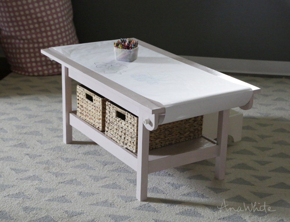 ana white how to simple kids pine play table with paper