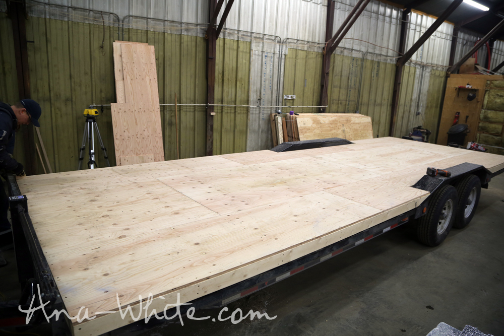 Videohow To Stain Plywood Floor Subfloor Flooring Tiny House Build