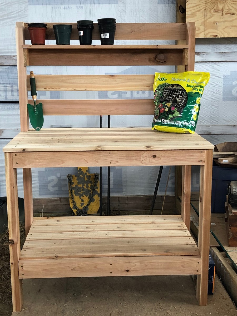 Potting Bench Built With Cedar Ana White