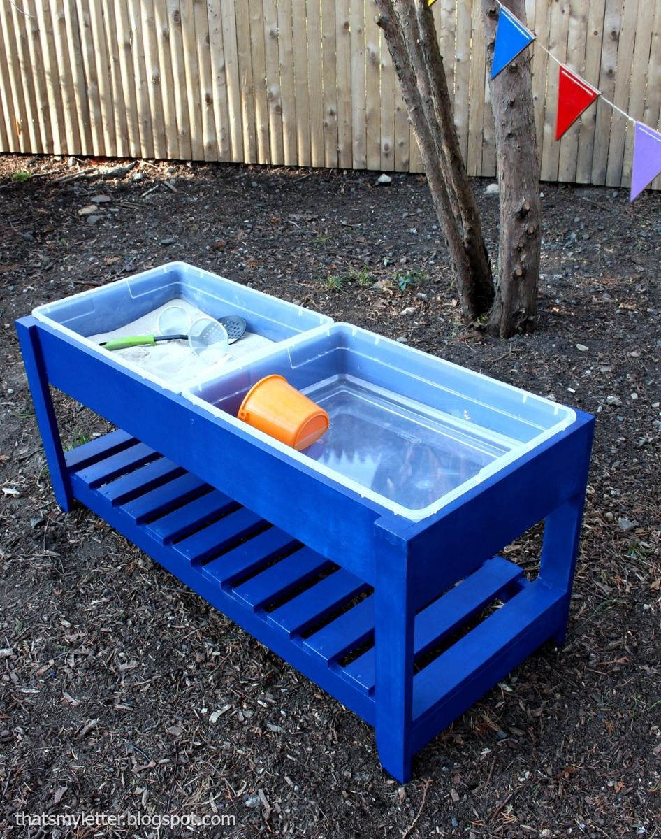 Build Your Own Sand And Water Play Table Uses 6 Storage Bins For Tubs Free Easy Plans By Ana White