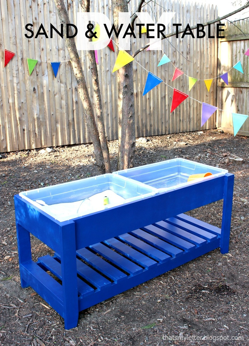 water play table white sand and water play table diy projects 28933