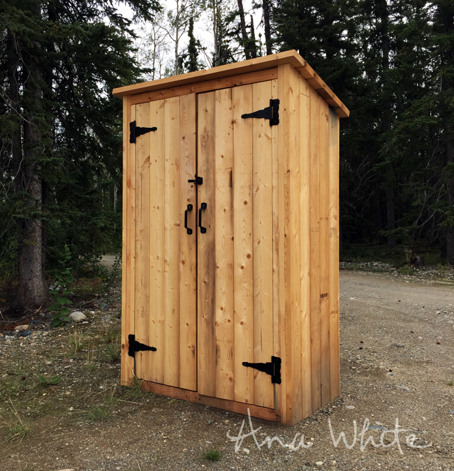 Ana white small outdoor shed or closet converted into for Well shed plans