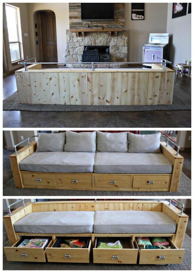 cheap for discount 62441 1d6b2 Modern Wood Storage Sofa | Ana White