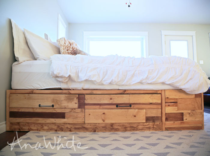 storage bed with drawers scrap wood plans