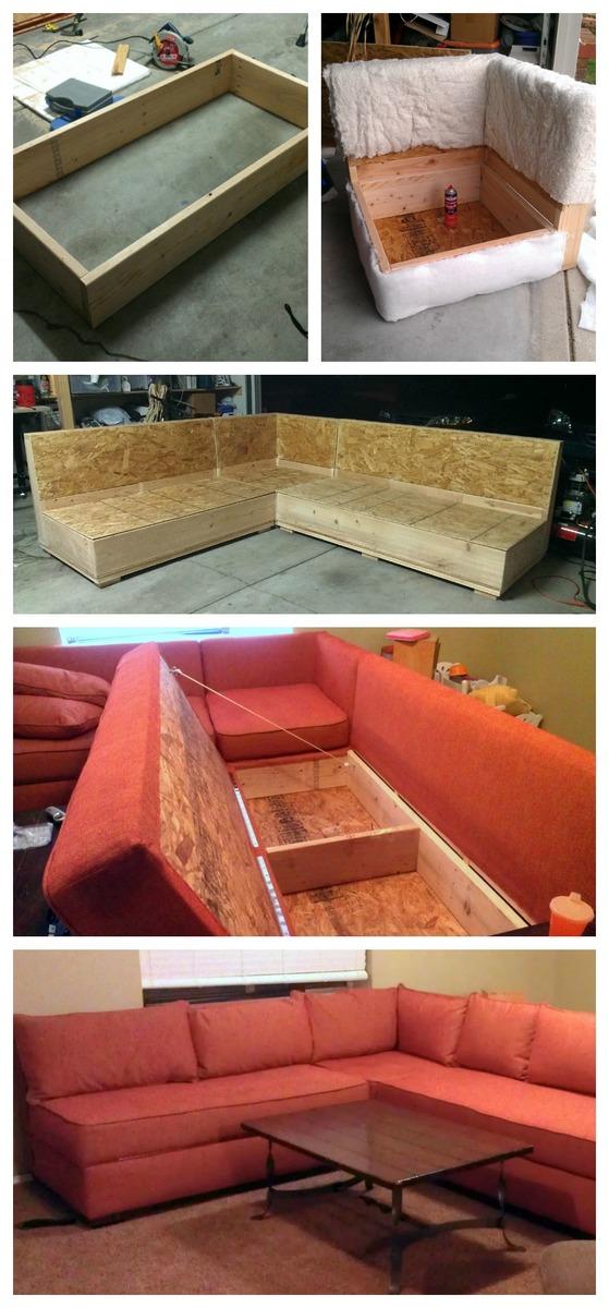 Diy Sofa Storage Sectional Ana White