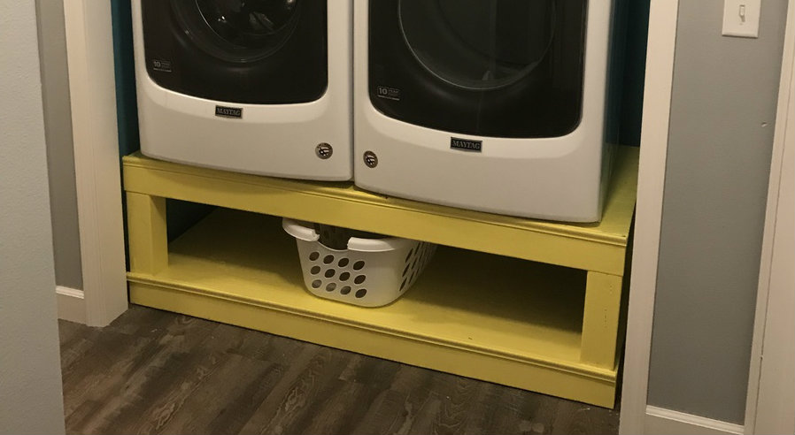 Yellow Washer Dryer Pedestals Ana White