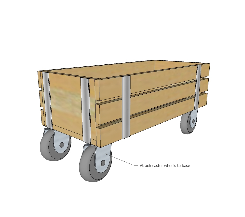 Beautiful Wood Wagon For Children - Industrial