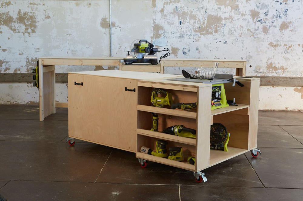 Ultimate Roll Away Workbench With Miter Saw Stand Ana White
