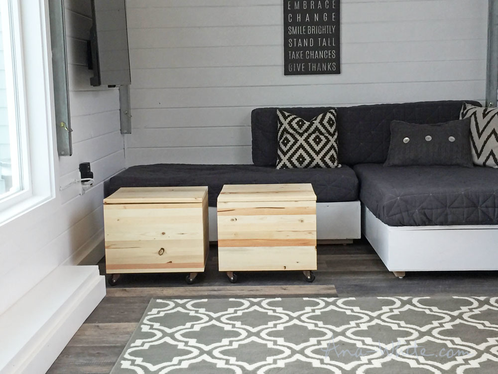 Their Home Is Base The Coffee Table Area In Lounge Since Storage Stools Are On Casters They Can Be Moved Freely Around