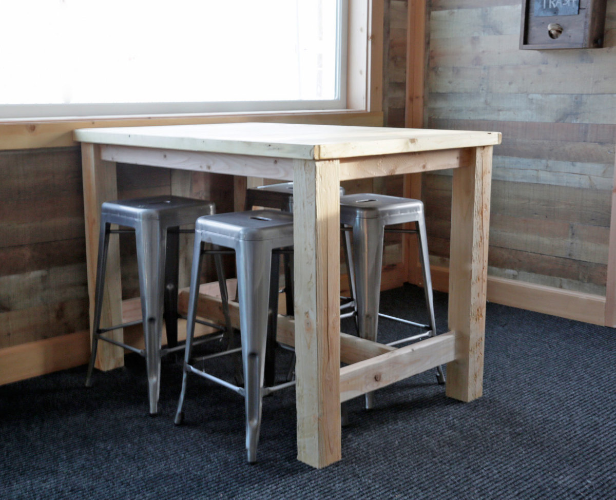 counter height farm table