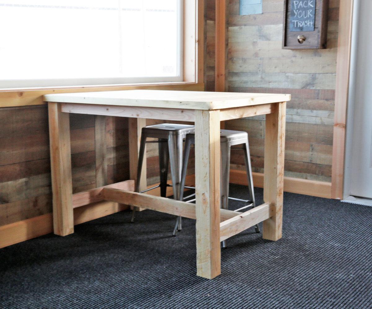 farmhouse counter height table Ana White | Counter Height Farmhouse Table for Four   DIY Projects farmhouse counter height table
