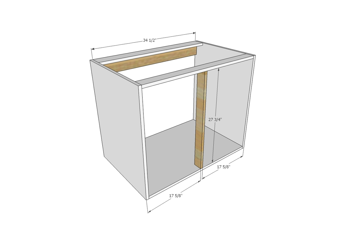 Kitchen sink cabinet plans ana white kitchen cabinet sink for Basic kitchen base units