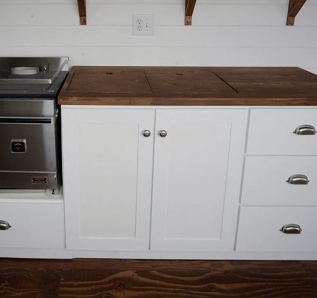 Euro Style Kitchen Sink Base Cabinet For Our Tiny House