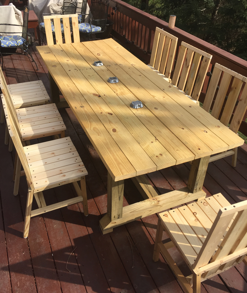 Tremendous Diy Deck Table The Arts Home Interior And Landscaping Ymoonbapapsignezvosmurscom