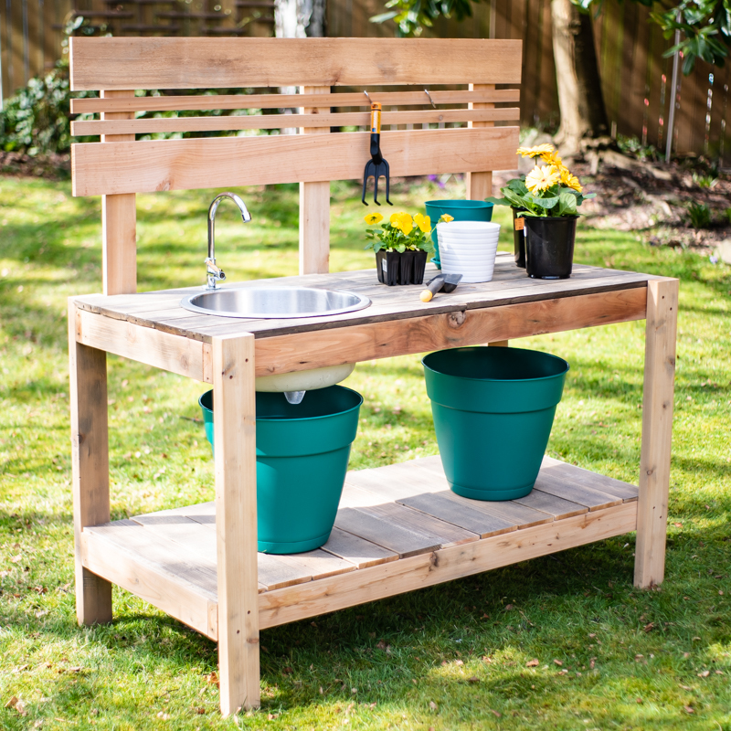 Diy Potting Bench With Sink Ana White