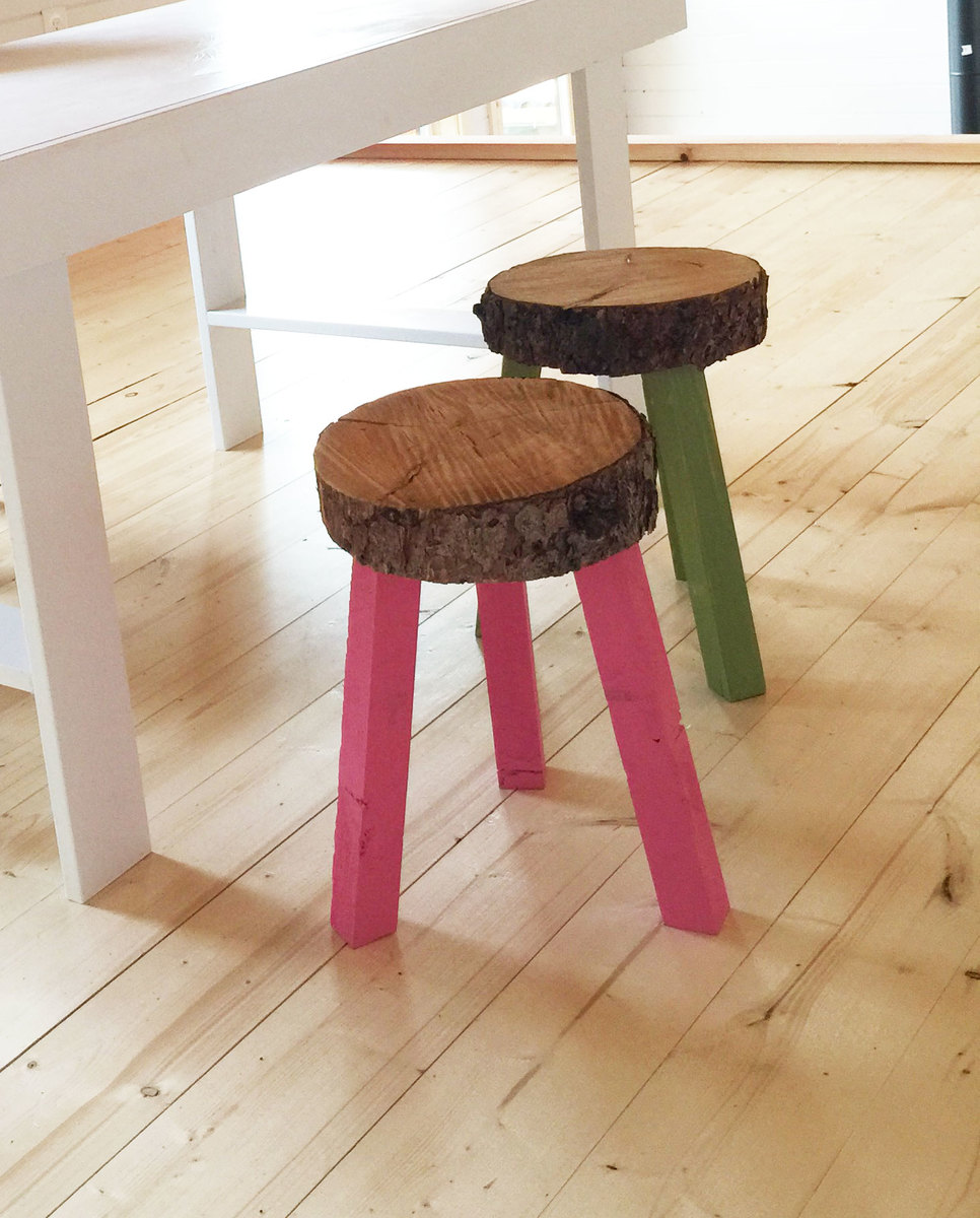 Charming ... Stump Stools From Building Off The Grid Alaska Range On DIYNetwork Nice Ideas